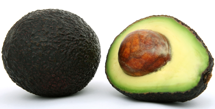 Fresh tropical food, healthy avocado fruit