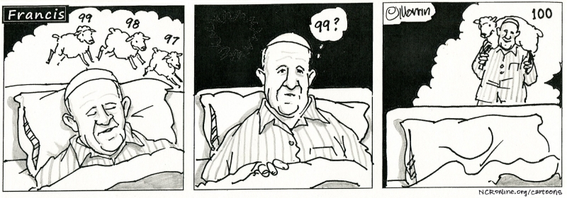 Francis, counting sheep