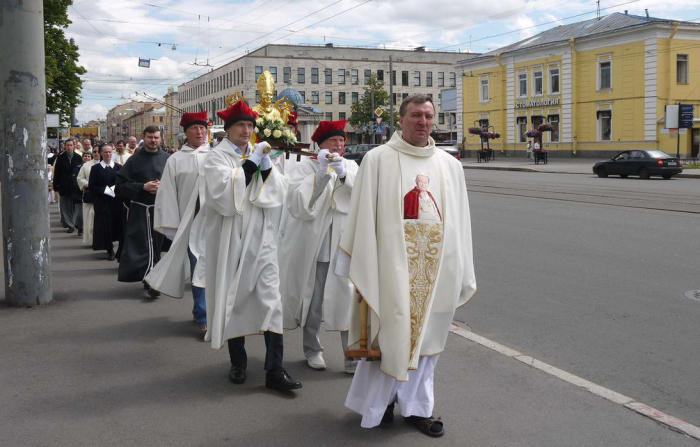 Евхаристическая процессия. 2014 г.